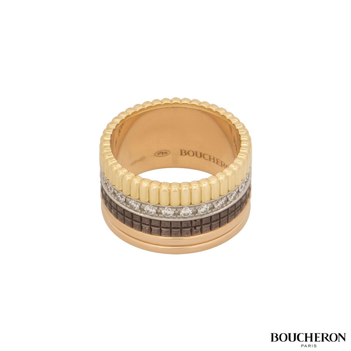 Boucheron Tri-Colour Quatre Classique Large Ring